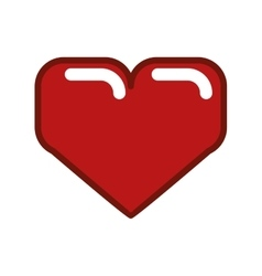 Pixel heart icon Love design graphic vector