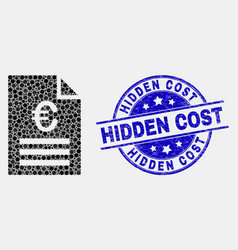 pixelated euro price page icon and vector image