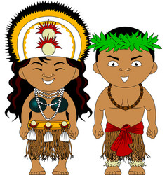 polynesia tahiti vector image