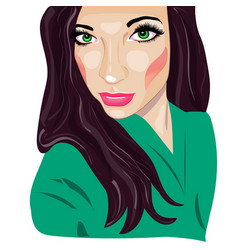 portrait girl pop art vector image