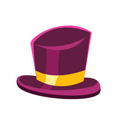 Purple gentleman hat vector