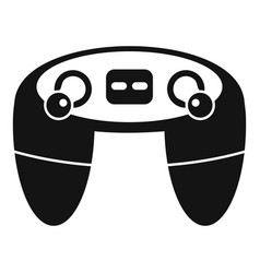 retro game controller icon simple style vector image