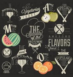 Retro vintage style restaurant menu designs vector