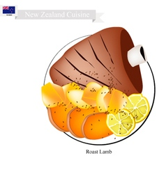 Roasted Lamb The Popular Dish of New Zealand vector image