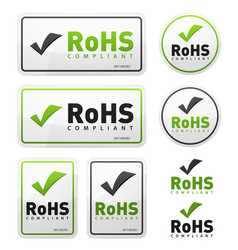 Rohs compliant icons set vector