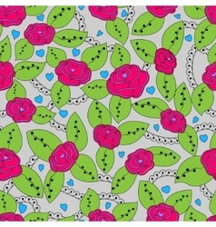 Roses colorful pattern vector image