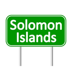 Solomon Island road sign vector