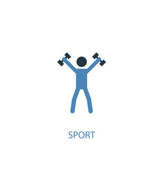 sport concept 2 colored icon simple blue element vector image