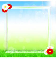 spring banner design vector image