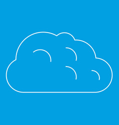 Storm cloud icon outline style vector