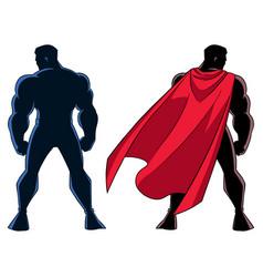 Superhero back silhouette vector