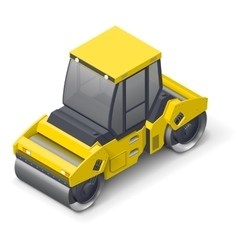 Tandem vibratory roller icon vector image