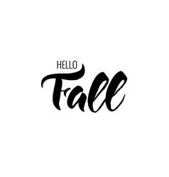 texture black and white lettering hello fall vector image