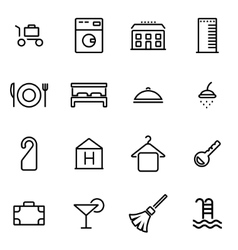 Thin line icons - hotel vector
