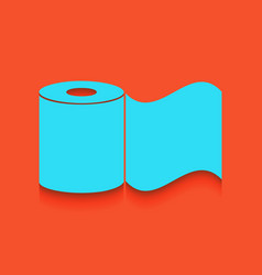 Toilet paper sign whitish icon on brick vector