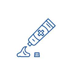 toothpaste line icon concept toothpaste flat vector image