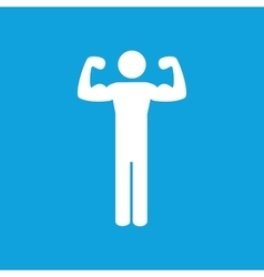 Trained man icon simple vector image