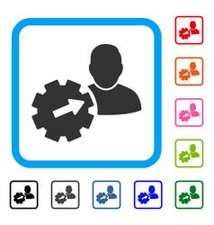 User integration api gear framed icon vector