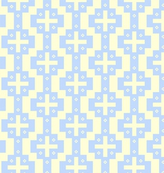Vintage Plus Symbol and Flower Pattern on Pastel vector