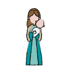 virgin mary holding baby jesus catholic image vector image