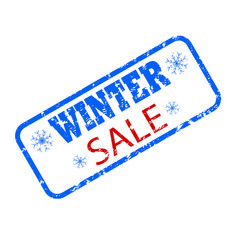 winter sale rubber seal stamp promotion vector image
