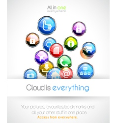 Cloud computing background vector image