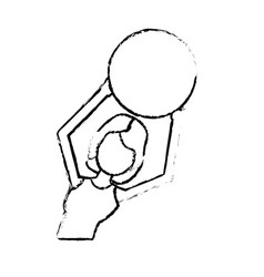Figure healthy woman doing exercise with ball vector