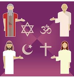 Religions vector image