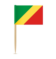 republic of the congo flag flag toothpick on vector image
