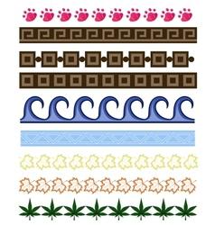 set of cartoon borders vector image