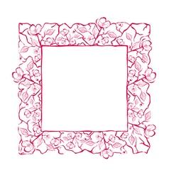 Spring Flower Frame vector image vector image