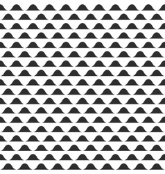 Wavy pattern abstract black and white vector image vector image