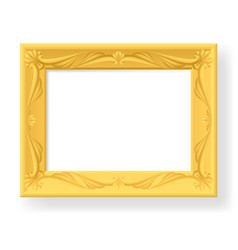 wooden frame on white background for design vector image
