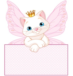 adorable princess cat vector image vector image