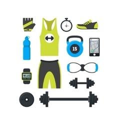 Cartoon Man Sport Set vector image vector image