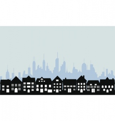 city and town vector image vector image