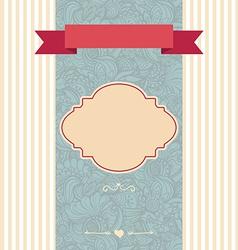 invitation card decorative frame vector image