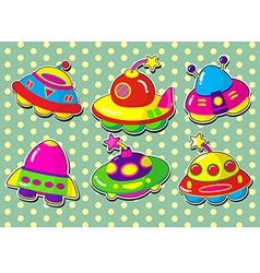 ufo stickers vector image