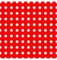 White dots on red background seamless pattern vector image
