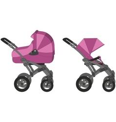 Baby Pram vector image vector image