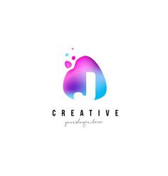 j letter dots logo design with oval shape vector image vector image