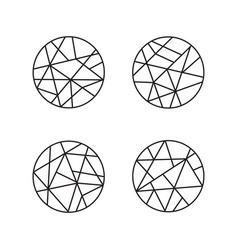 logo design geometric round logo emblem vector image