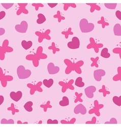 Pink Baby seamless pattern vector image vector image