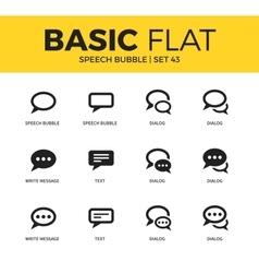 Basic set of Speech bubble icons vector image