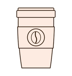 coffee drink beverage glass icon vector image vector image