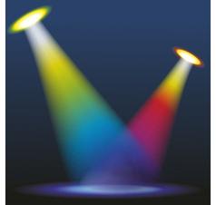 Color spotlights vector image