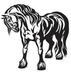heavy draft horse vector image vector image