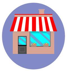Icon shop building retail vector image vector image