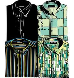 Men fashion shirts vector image vector image