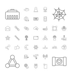 37 network icons vector image